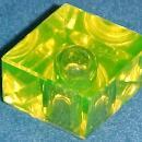 Vaseline Glass Diamond Inkwell - Glass