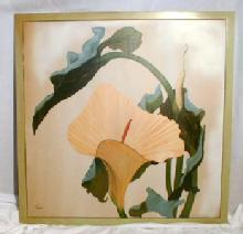 Huge CALLA LILY Oil on Canvas - Artist Signed
