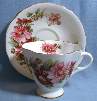 Cup and Saucer - Clarence Bone China Pottery Porcelain