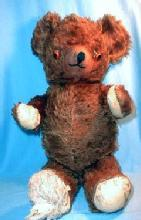 retro Old Antique Jointed Growler TEDDY BEAR - Vintage Mohair toy Bear