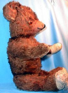 Antique Jointed Growler TEDDY BEAR - Vintage Mohair toy Bear