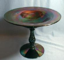 Fostoria Art Glass Compote - Vintage Amethyst Blown Glass
