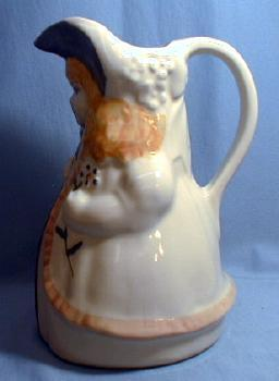 Shawnee Pottery BO PEEP Pitcher - Vintage Pottery Pitcher