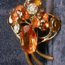 Designer Fred Block FUR CLIP - One of A Kind AWESOME Vintage Estate Jewlery-