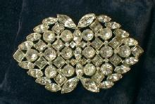 Jewelry  HUGE vintage  Rhinestone Brooch - Size Does Matter -