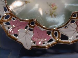 Meissen or Old Paris Pierced Rim Bowl - Large Antique