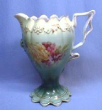 Saxe Altenberg Porcelain Pottery Pedestal Cream Pitcher