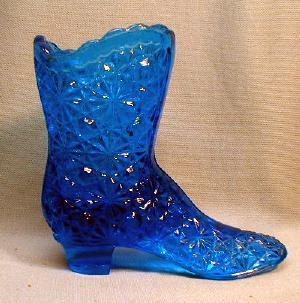Fenton Glass Boot - Daisy & Button Victorian High Top Shoe