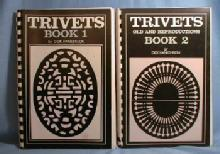 TRIVETS Book 1 and Book 2 Old & Reproductions - Vintage Reference Books
