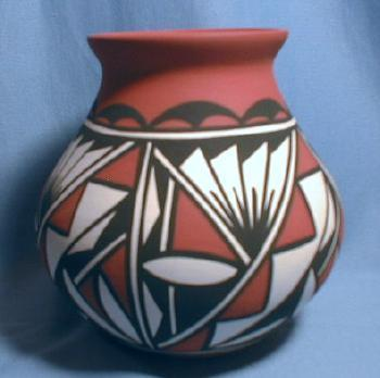 old vintage Acoma Artist Signed Pot - Native American Indian Pottery - ethnographic