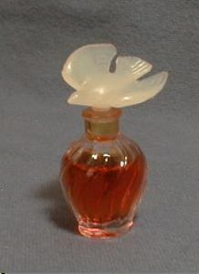 Ricci Miniature Perfume Mini Bottle - Dove Stopper - Vintage Glass Bottle