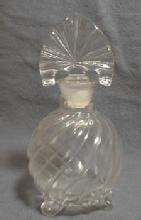 SWIRL Perfume Bottle - Vintage Imperial Glass Cologne Bottle