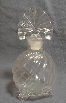 SWIRL Perfume Bottle - Vintage Imperial Glass Cologne Bottle