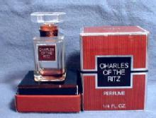 CHARLES RITZ Perfume Bottle - Vintage Mini Glass Bottle