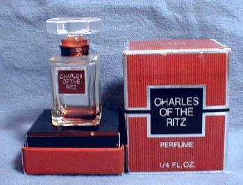 CHARLES RITZ Perfume Bottle - Vintage Mini Glass Bottle