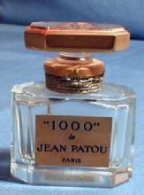 French  Baccarat 1000 de Jean Patou Perfume  - Vintage Glass Parfum Bottle