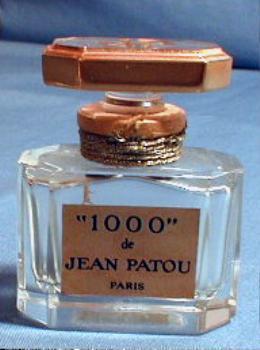 French  Baccarat 1000 de Jean Patou Perfume  - Vintage Glass Parfum Bottle
