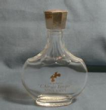 French  Lalique Bottle Nina Ricci L'AIR de TEMPS Eau de PArfum - Vintage Glass Mini Perfume Bottle