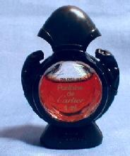 Minature PANTHERE de CARTIER Pafum - Vintage Mini Glass Perfume Bottle Original Box
