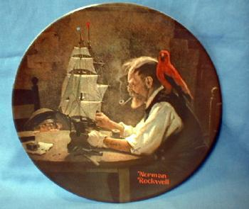 Limited edition  Norman Rockwell THE SHIP BUILDER - Limited Edition Porcelain Plate