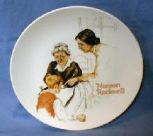 Limited  Norman Rockwell THE BROKEN WINDOW - Limited Edition Porcelain Plate