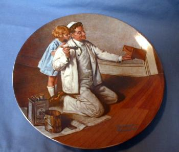 Limited  Norman Rockwell THE PAINTER Limited Edition Porcelain Plate