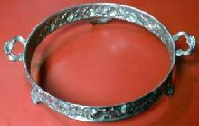 vintage Silverplate Pedestal or Server Ring - Footed Frame for Serving Vessel