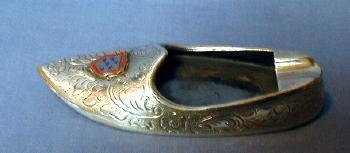 vintage Danish Silver Souvenir Ashtray - tobacciana
