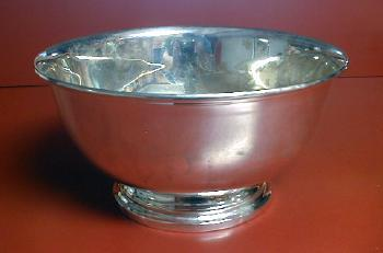 vintage Extra Large Silver Plate Footed Bowl - silverplate
