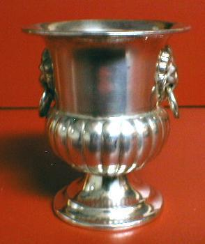vintage Silver Toothpick -  Ice Bucket Shape Silverplate