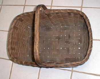 old vintage Native American Indian Splint Basket - ethnographic