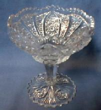 Pressed Glass Compote or Pedestal Bowl