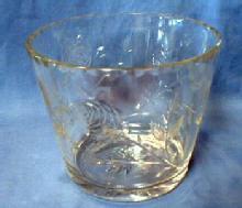 Cut Glass Ice Bucket - Vintage