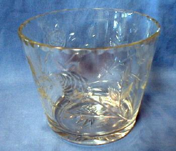 Cut Glass Ice Bucket - Vintage