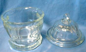Glass Creamer & Covered Sugar Bowl