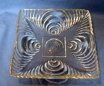 Hazel Atlas Depression Era Glass Square Shallow Bowl