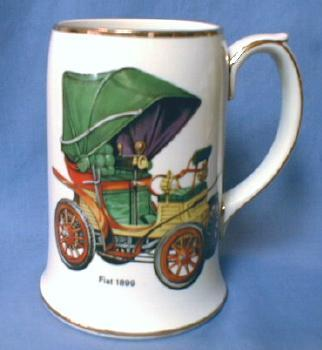 FIAT 1899 Automobile - Sadler Pottery Mug