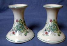 Elizabeth Arden - Pair of Porcelain Candlesticks