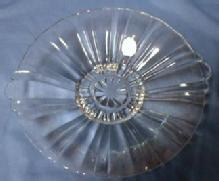 OLD CAFE Handled Candy Dish - Hocking glass