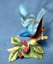 Lefton BLUEBIRD Figurine - Vintage Bisque Porcelain