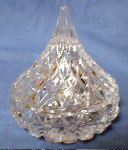 Hershey Chocolate Candy Dish - Crystal Glass Covered Dish or Box