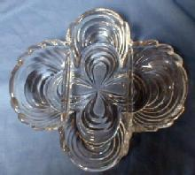 CAPRICE glass  RELISH Bowl - Cambridge Glass