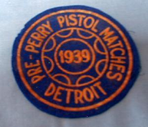 old 1939 PRE-PERRY PISTOL Match in Detroit Michigan  - sporting