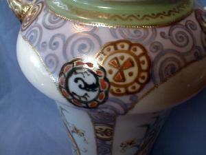 Art Deco Nippon Porcelain Vase - PARROTS