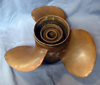 3 Blade Brass SHIP  Prop - Propeller of Boat Motor