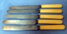 antique  French Ivory Landers Frary & Clark Cutlery - Group of 5 knives - metalware