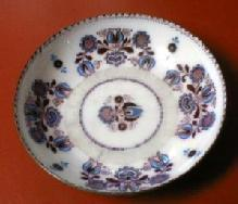 Enameled English Battersea Dish - MOP accents - Enamel on Metal