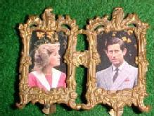Vintage Miniature ORMOLU - DOUBLE Photo Frame - Misc.