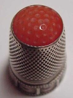 Sliver Thimble Coral Stone - Silver