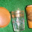 Jigger Glass in Mauchline Wood Box - Glass